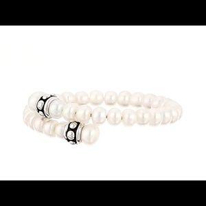 Honora Pallini White Pearl Coil Cuff Bracelet